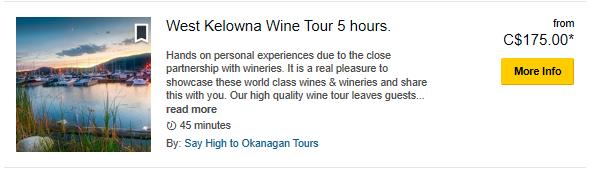 West Kelowna 5 Hour-TripAdvisor Special Prices